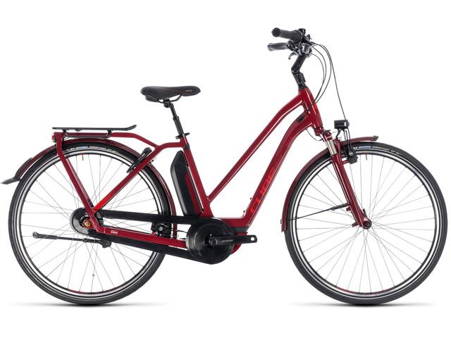 Cube Town Hybrid Pro 400 E-trekkingcykel Trapez rød